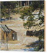 Rustic Cabin In The Pines Wood Print