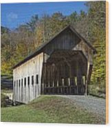 Rustic Covered Bridge Wood Print