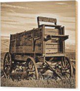 Rustic Covered Wagon Wood Print