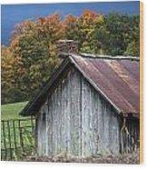 Rustic Farm Shed Wood Print