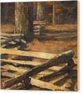 Rustic Fence Wood Print