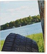 Rustic Lake Scene 1 Wood Print