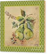 Rustic Pears On Moroccan Wood Print