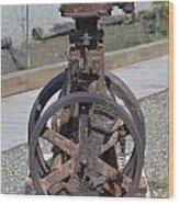 Rustic Pump  Wood Print