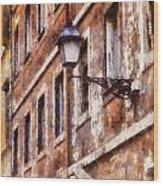 Rustic Rome Apartments Wood Print