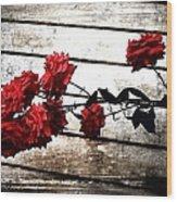 Rustic Rose Wood Print