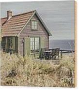 Rustic Seaside Cottage Wood Print