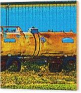 Rustic Tank Art Wood Print