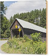 Rustic Vermont Covered Bridge Wood Print