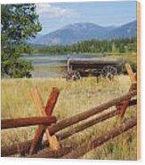 Rustic Wagon Wood Print by Marty Koch