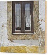 Rustic Window Of Medieval Obidos Wood Print