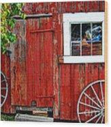 Rustic Window Pane Wood Print