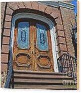 Rustic Wood Charleston Door Wood Print