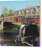 Rusting Bridge Wood Print