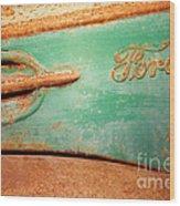 Rusting Ford Wood Print