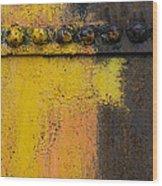 Rusting Machinery Wood Print