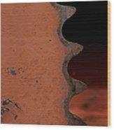 Rusting Orange Gear   #0007 Wood Print