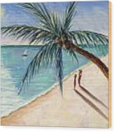Rustling Palm Wood Print