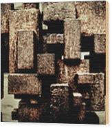 Rusty Art Wood Print by Joan Carroll