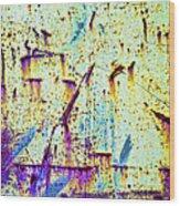 Rusty Background Wood Print