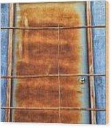Rusty Blues Wood Print