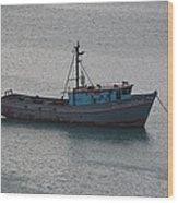 Rusty Boat Wood Print