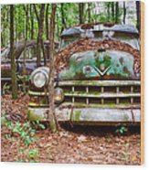 Rusty Caddy 3 Wood Print