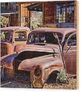 Rusty Cars  Wood Print