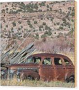 Rusty Chevrolet Special Deluxe In Manila Utah Wood Print