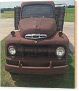 Rusty Ford Truck Wood Print