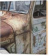 Rusty Classic Willy's Jeep Pickup Wood Print