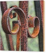 Rusty Curls Wood Print