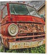 Rusty Dodge Wood Print
