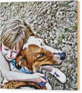 Rusty Dog Love Wood Print