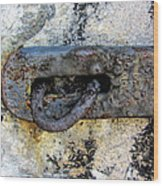 Rusty Dusty And Grimy Lock Plate Wood Print