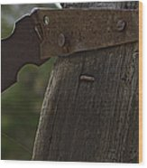 Rusty Hasp   #0005 Wood Print