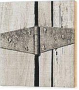 Rusty Hinge 2 Wood Print