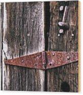 Rusty Hinge Wood Print