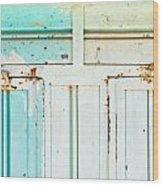 Rusty Hinges Wood Print