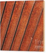 Rusty Hood Louvers Wood Print