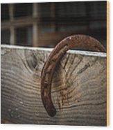Rusty Horseshoe Wood Print