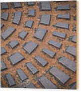 Rusty Iron Hatch Wood Print