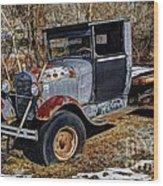 Rusty Model Aa Ford Wood Print