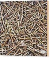 Rusty Nails Wood Print