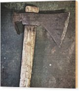 Rusty Old Axe Wood Print by Carlos Caetano