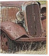 Rusty Old Chevy Wood Print