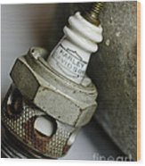 Rusty Old Spark Plug  5  Wood Print by Wilma  Birdwell