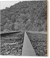 Rusty Rail Wood Print