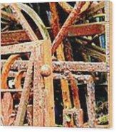 Rusty Railings Wood Print