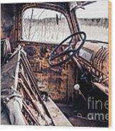Rusty Relic Truck Wood Print